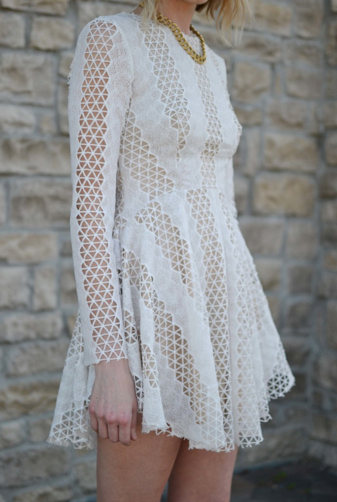 Spring Neutrals, lace dress