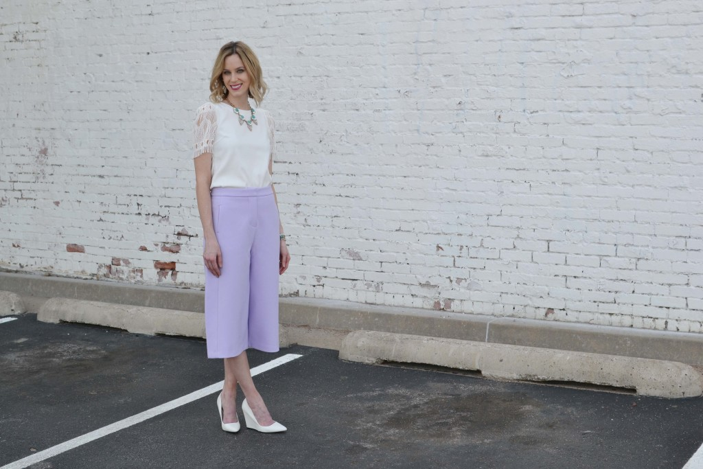 culottes, white top, chloe + isabel 2