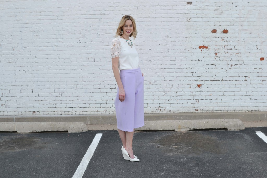 culottes, white top, chloe + isabel 3