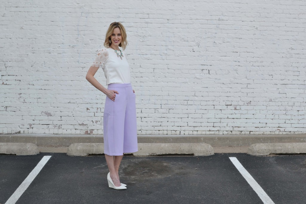 culottes, white top, chloe + isabel 5
