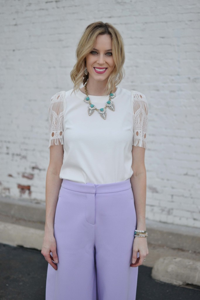 culottes, white top, chloe + isabel