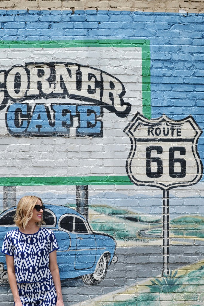 the shopping bag, route 66 courner cafe