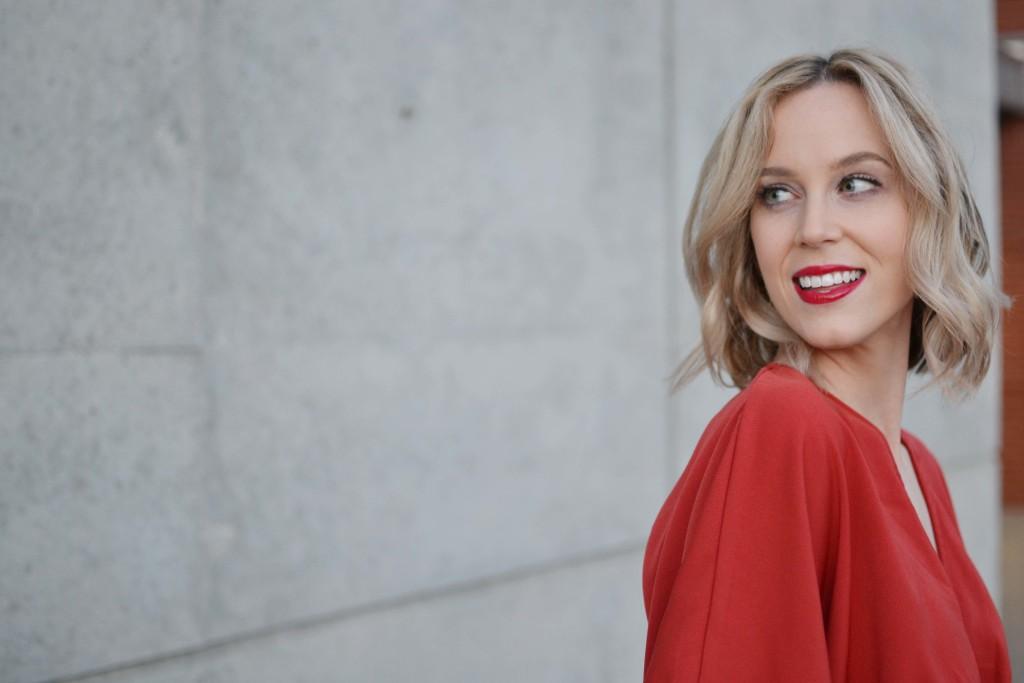LuLu*s rust maxi dress, red lip