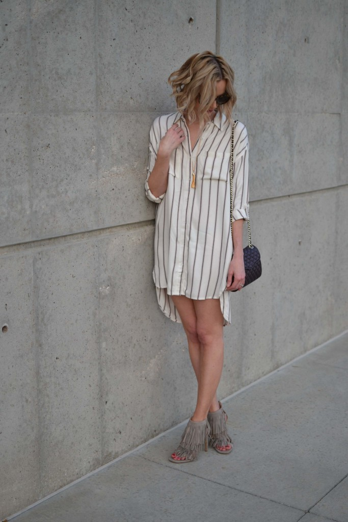 sage plaid shirt dress