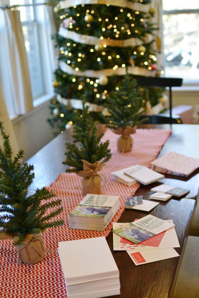 Christmas tree and table