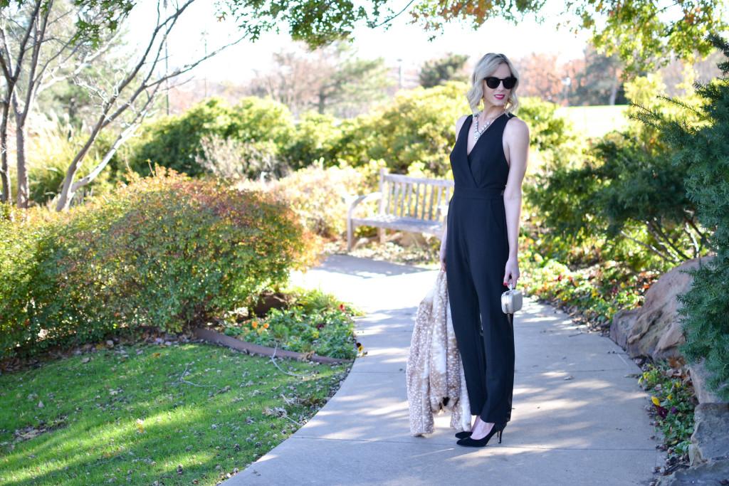 WAYF jumper, black heels