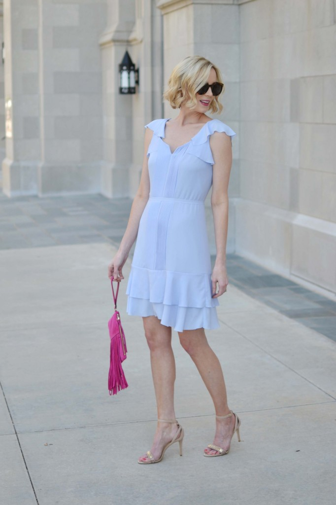 This pastel blue number from Banana Republic is the one dress you'll need this spring.