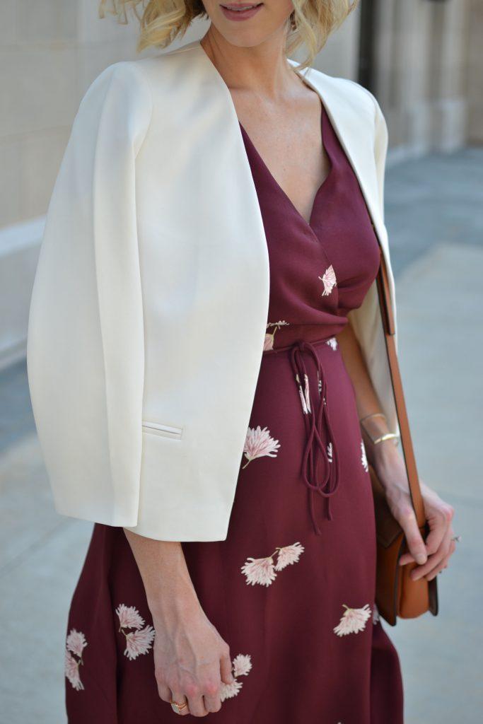 Ann Taylor wrap dress details