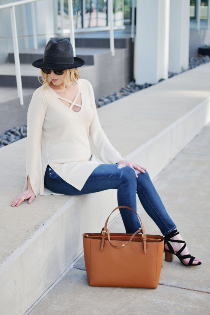 Free People sweater, jeans