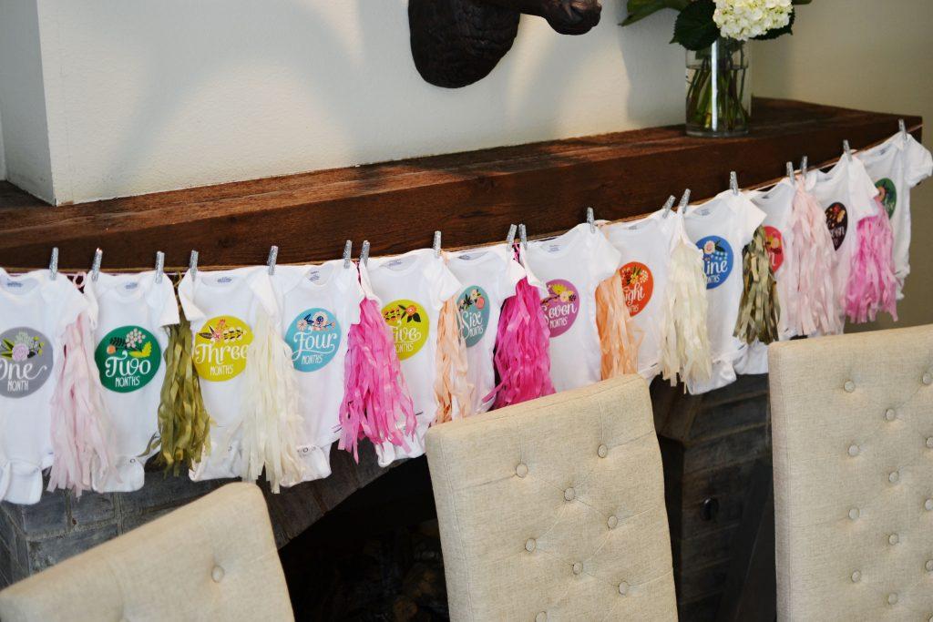 baby shower decor onesies