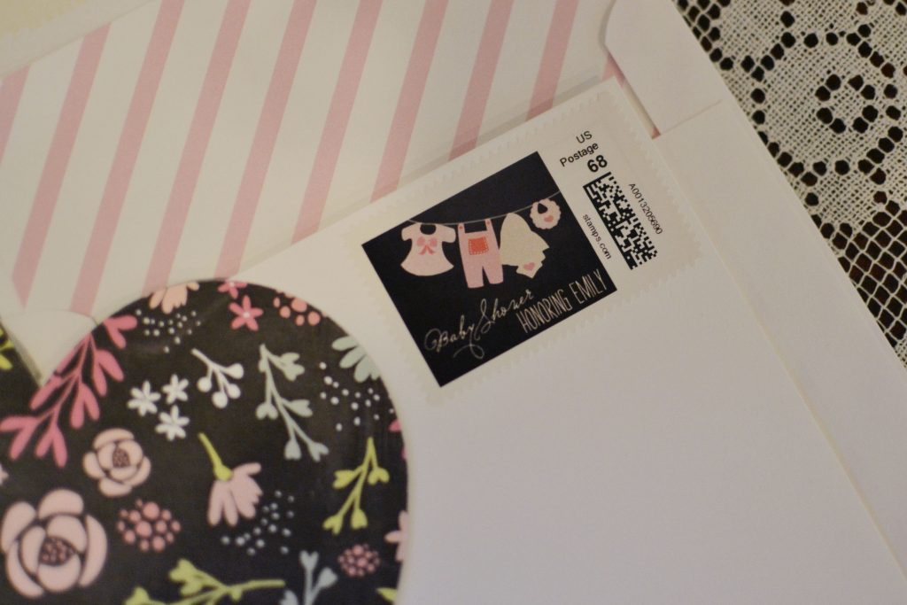 baby shower personalized stamps