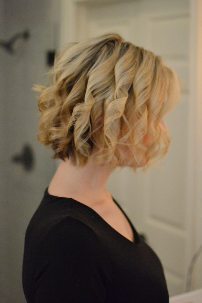 how to create curls that last on a long bob - step by step tutorial