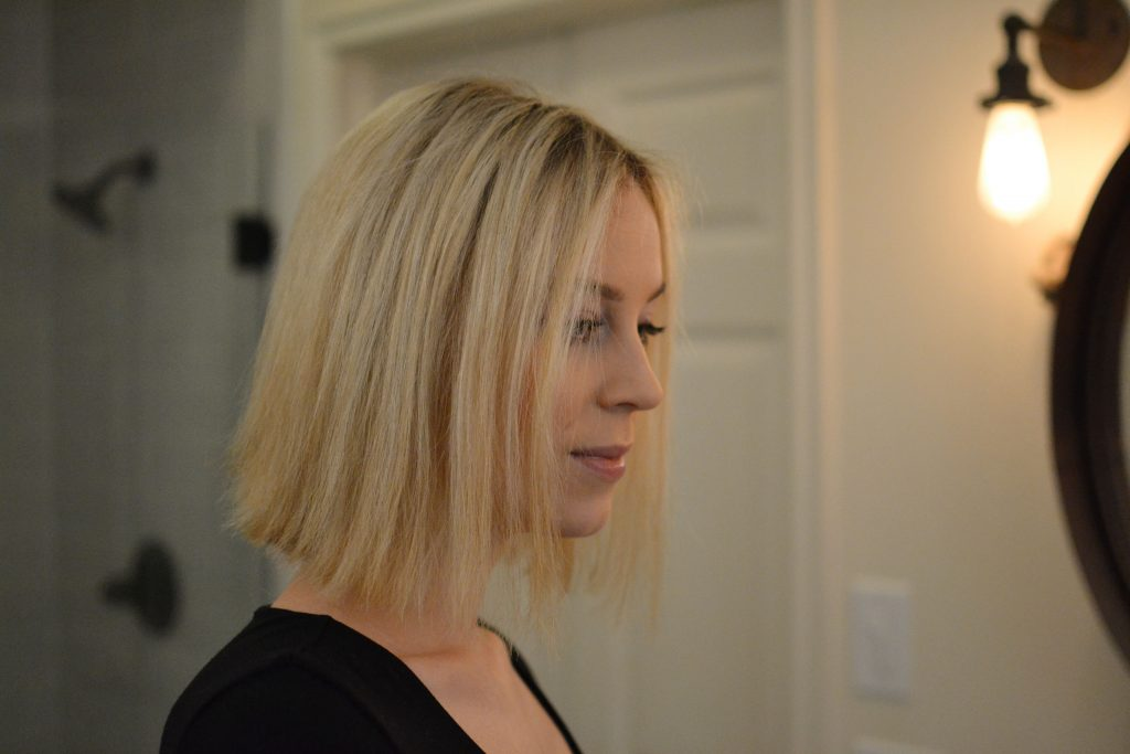 how to create curls that last on a long bob - start with clean, straight hair