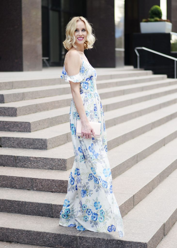 a dress worthy of date night, amanda uprichard wren floral dress, long floral maxi dress