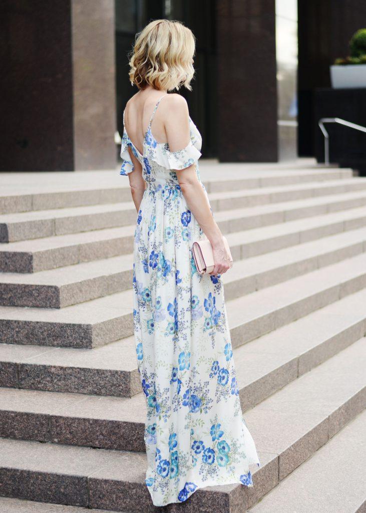 a dress worthy of date night, amanda uprichard wren floral dress, long floral maxi dress, date night outfit idea