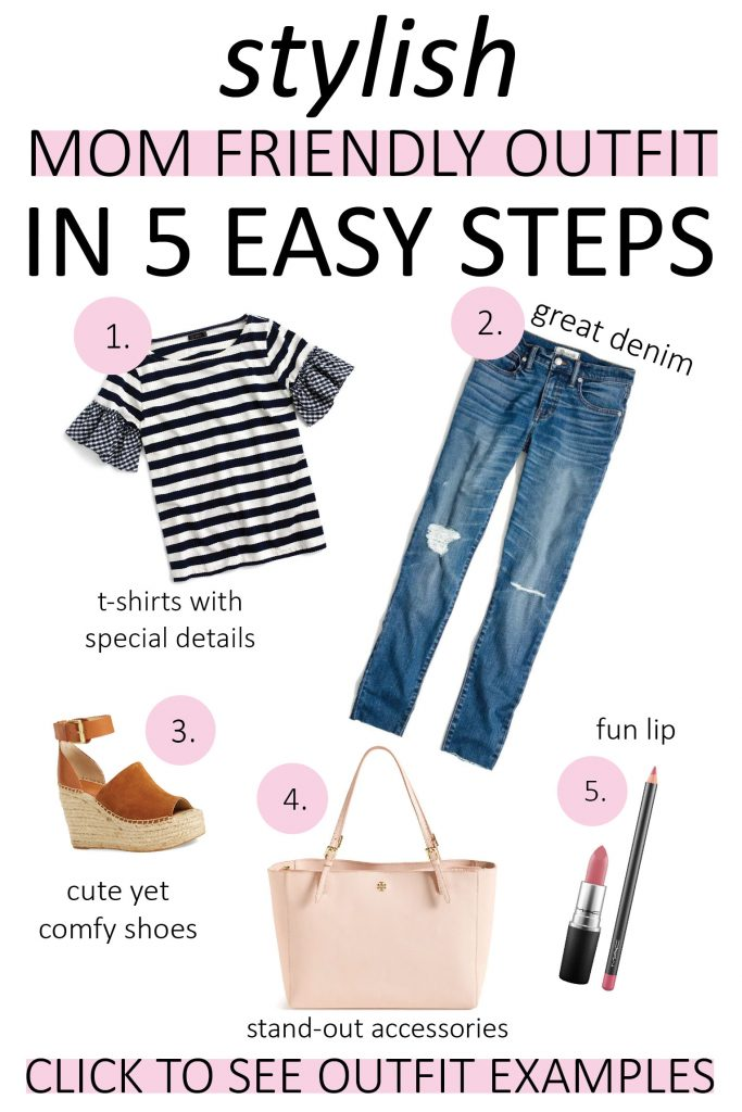 how to create stylish and cute mom friendly outfits in 5 easy steps, easy mom style