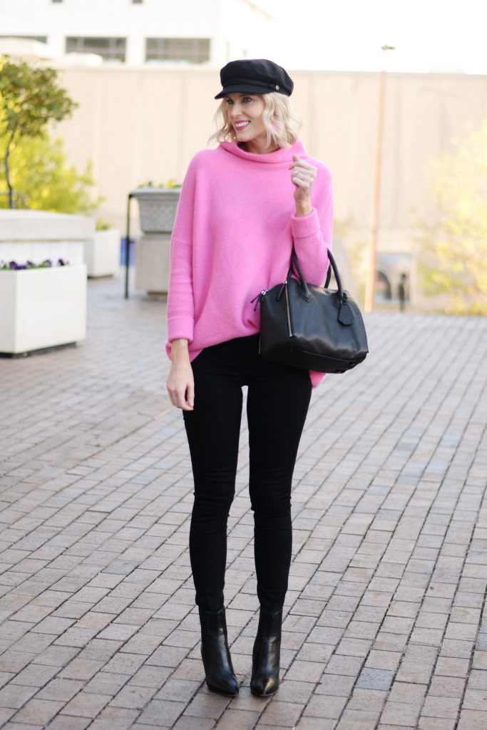 to tuck or not to tuck - how to style a tunic sweater