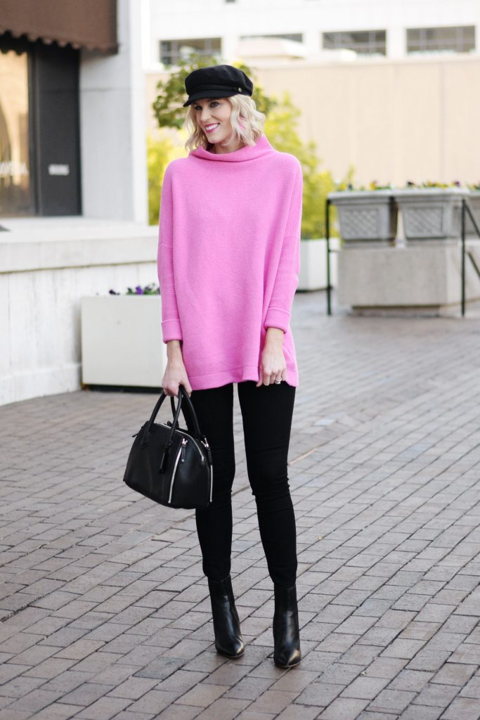 how to style a long sweater