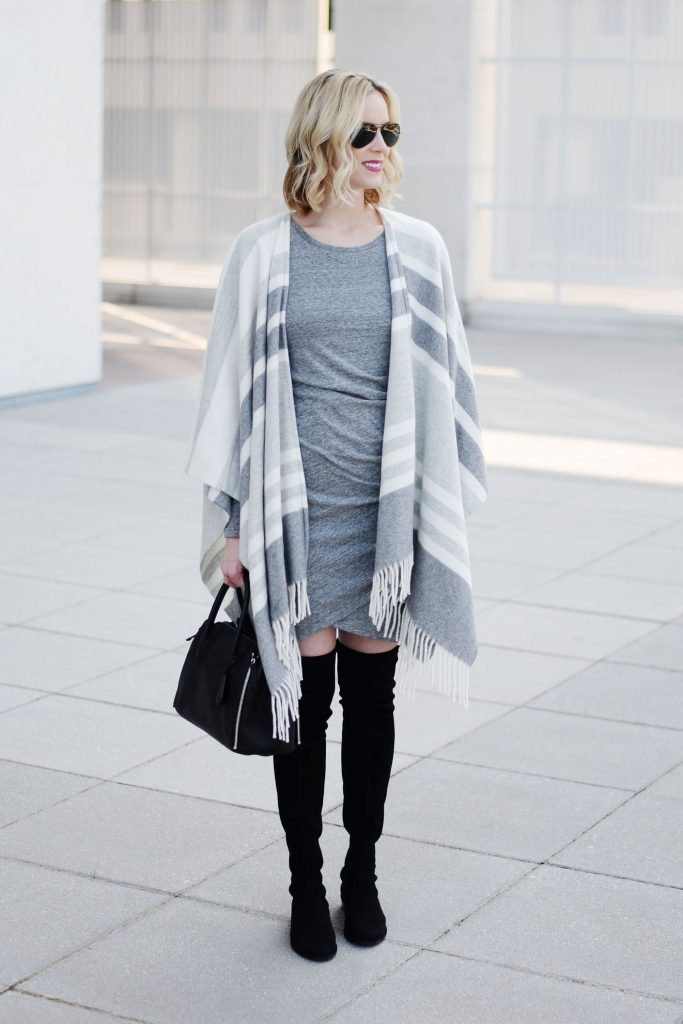ruched dress for winter