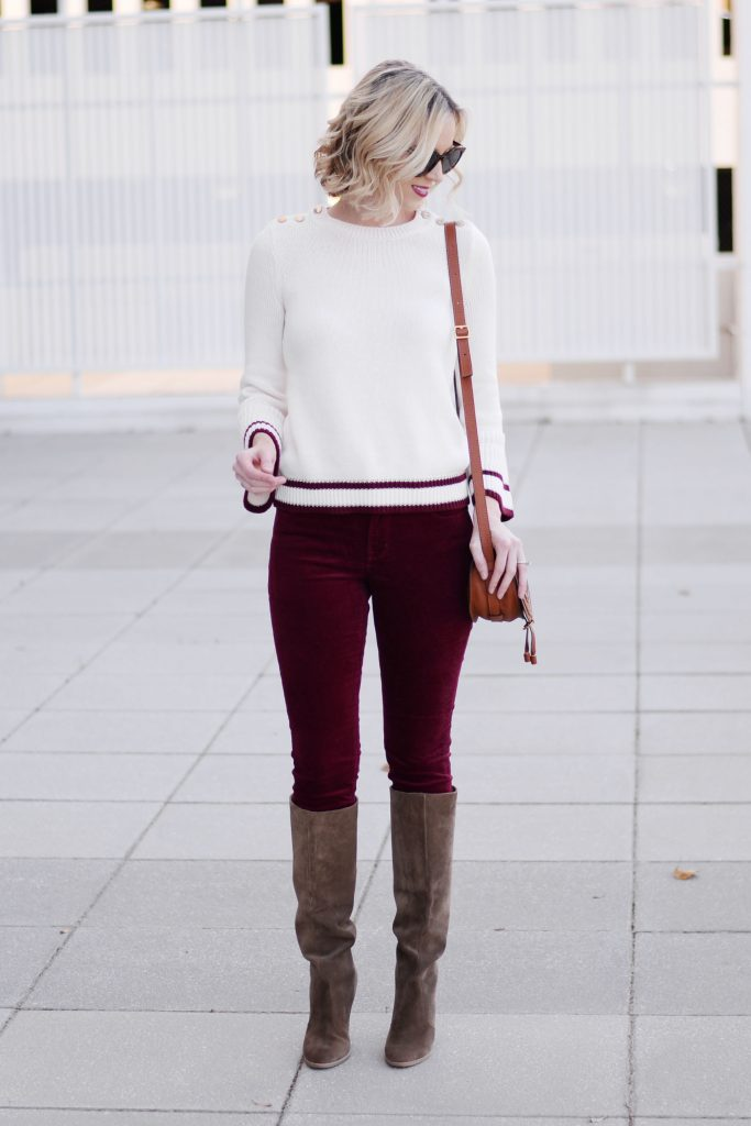 easy festive casual holiday outfit idea