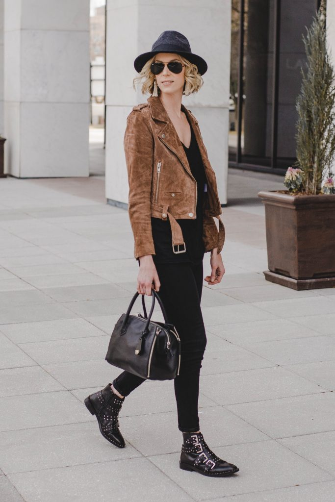 black and brown casual outfit idea
