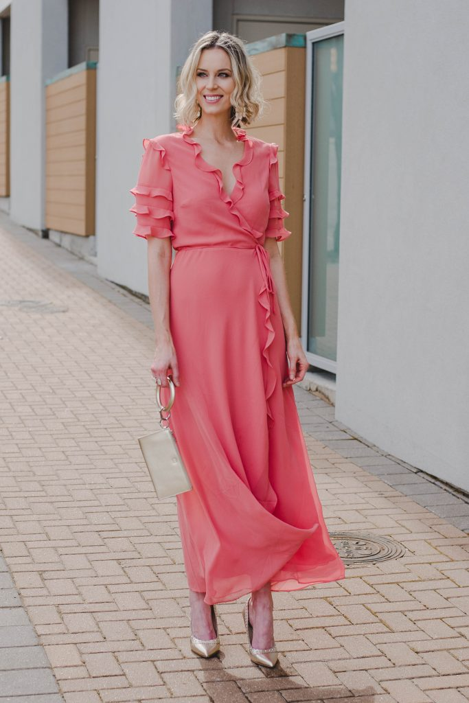 long wrap dress for spring, dressy dress