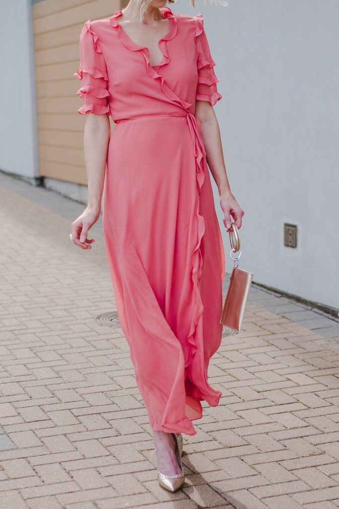 gorgeous long dressy dress with ruffles