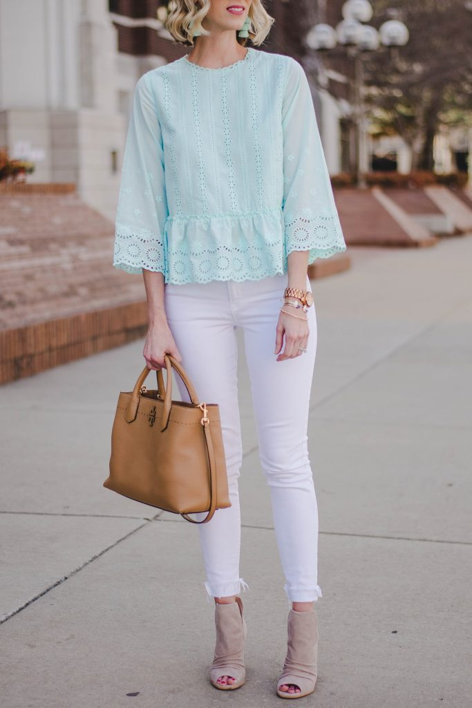 mint and white combo for spring