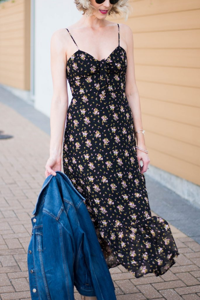 how to wear a midi dress in the spring