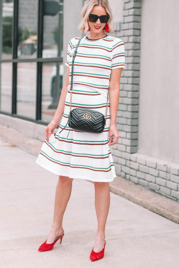 matching set midi skirt outfit