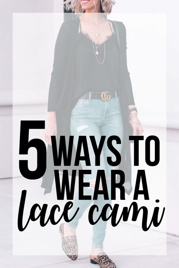 5 ways to wear a lace cami