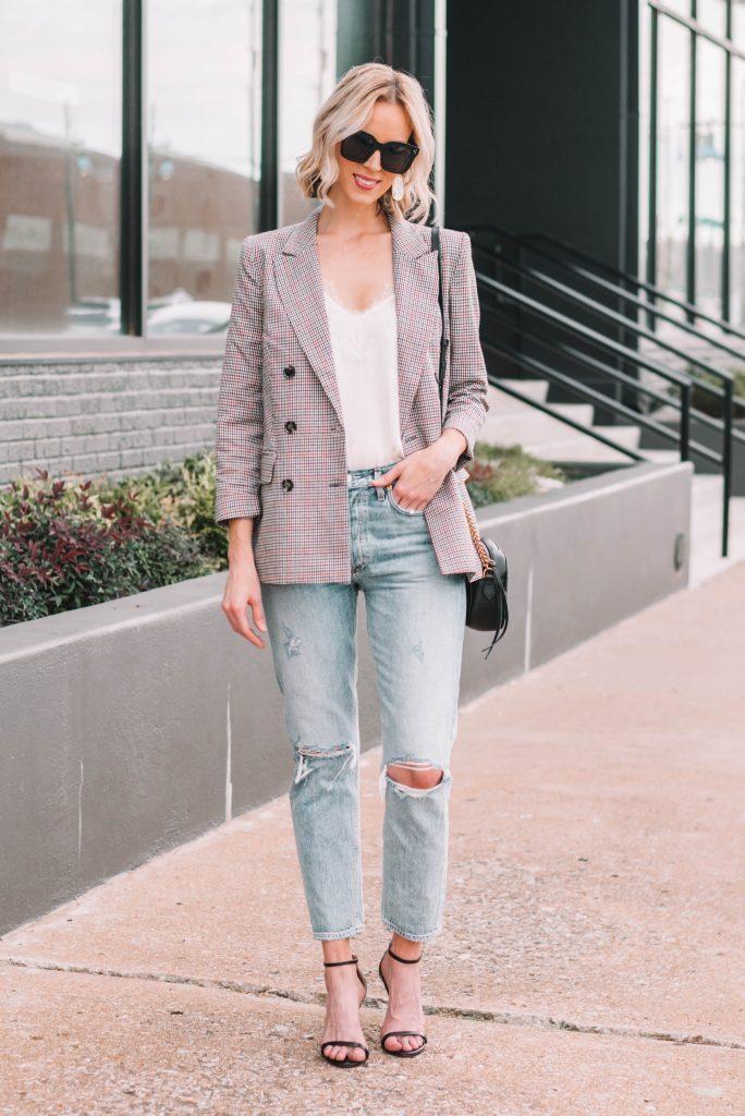 why you need a plaid blazer