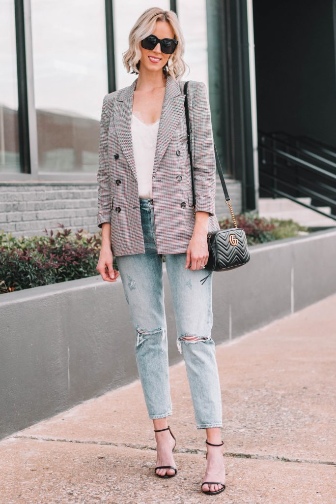 why you need a plaid blazer for fall