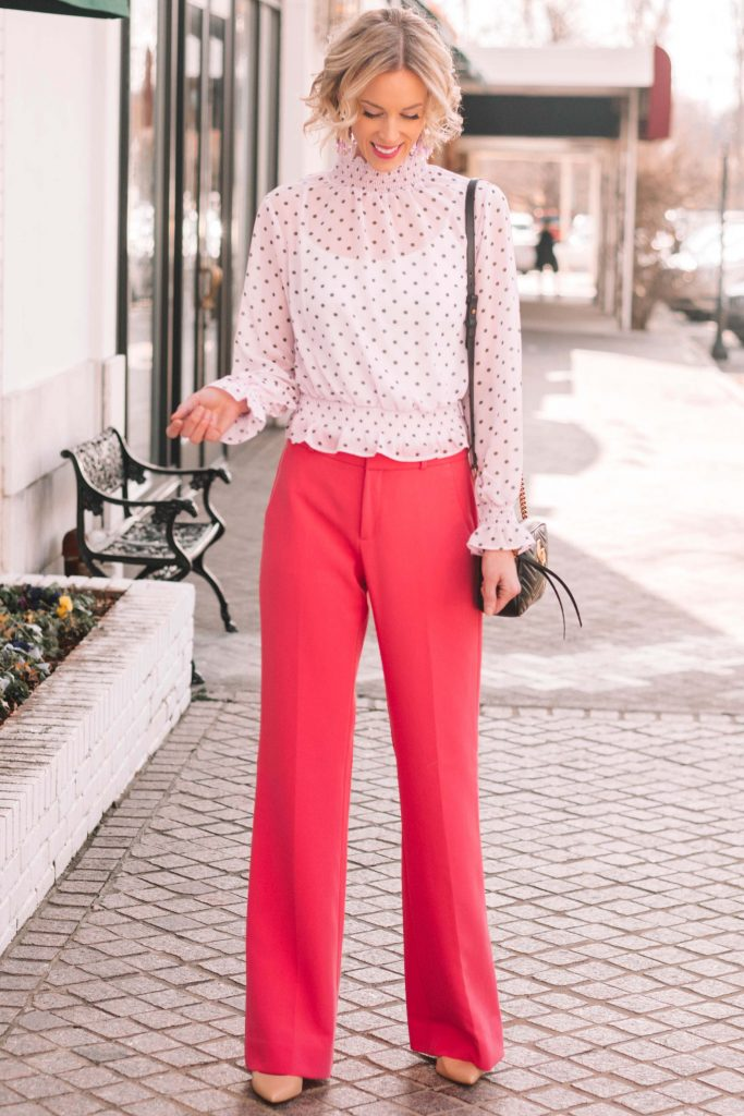 How to Add Personality to Your Work Wardrobe with Colored Pants, what to wear to work in the winter
