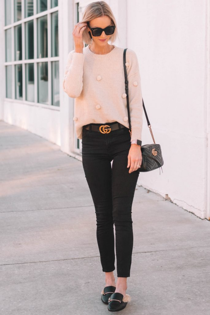 casual outfit with great gucci dupe pieces