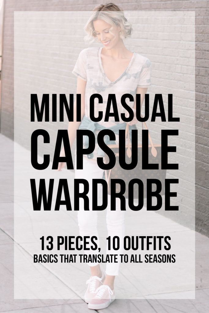 mini casual capsule wardrobe, 13 pieces to make 10 outfits, basics that translate to all seasons, the post you need to read to start a wardrobe that is stylish and functional