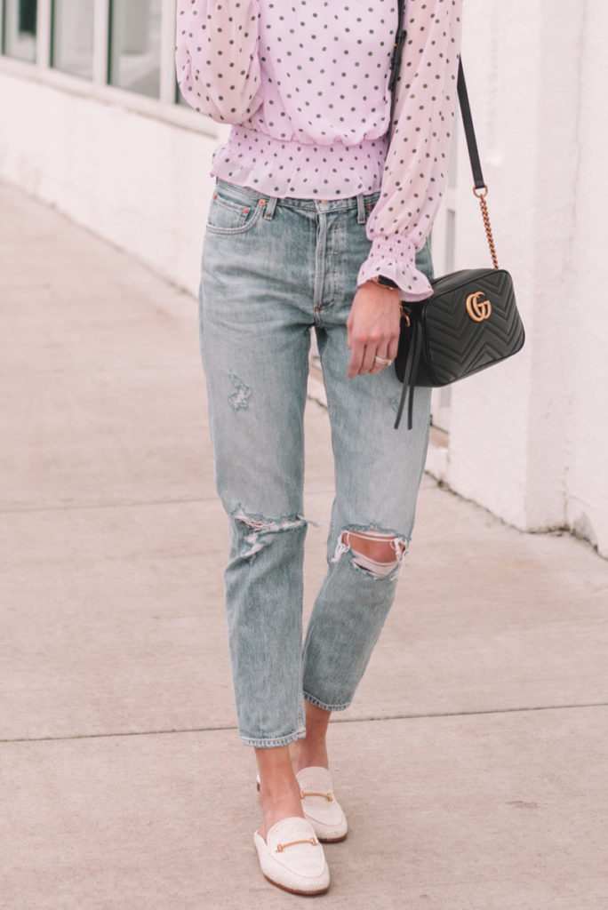 cropped jeans and mules