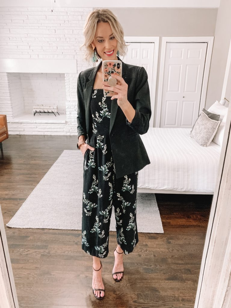 how to wear a jumpsuit 2 ways, how to style a jumpsuit for work