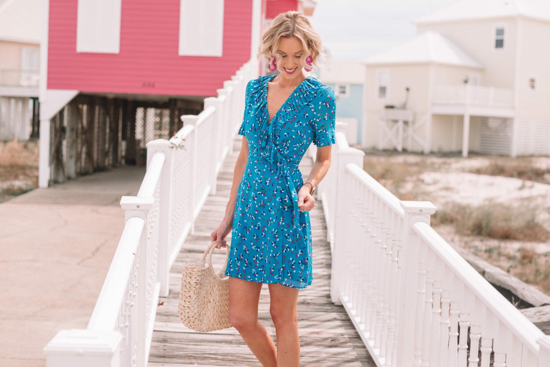 71d1b04e6b157 Little Blue Wrap Dress - Straight A Style