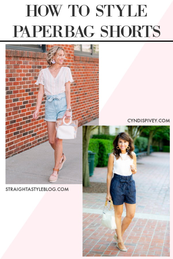 post all about how to style paperbag waist shorts, paperbag denim shorts, styling tips for paperbag waist shorts