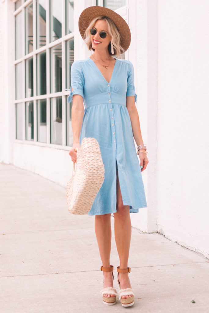 gorgeous blue summer dress