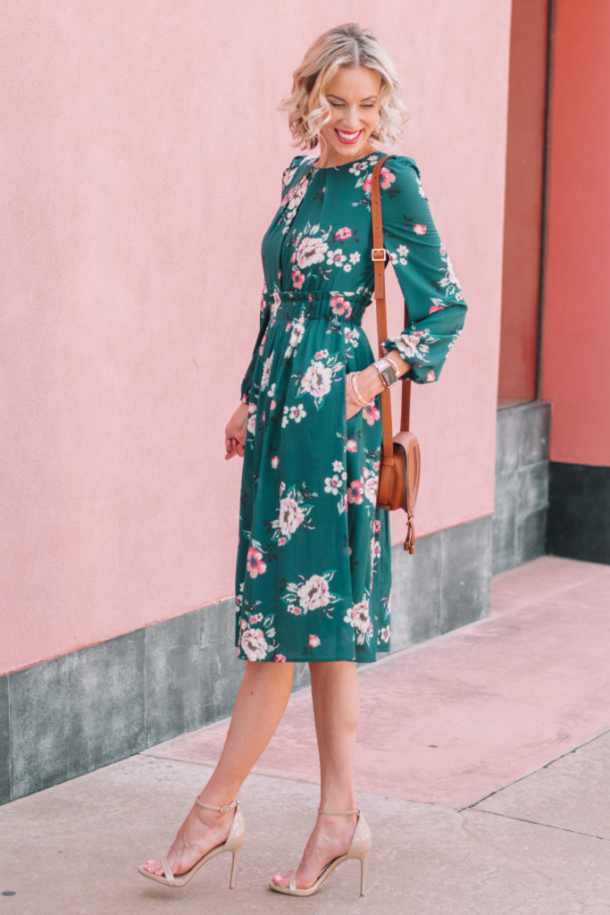 floral midi dress part of the Nordstrom anniversary sale 2019