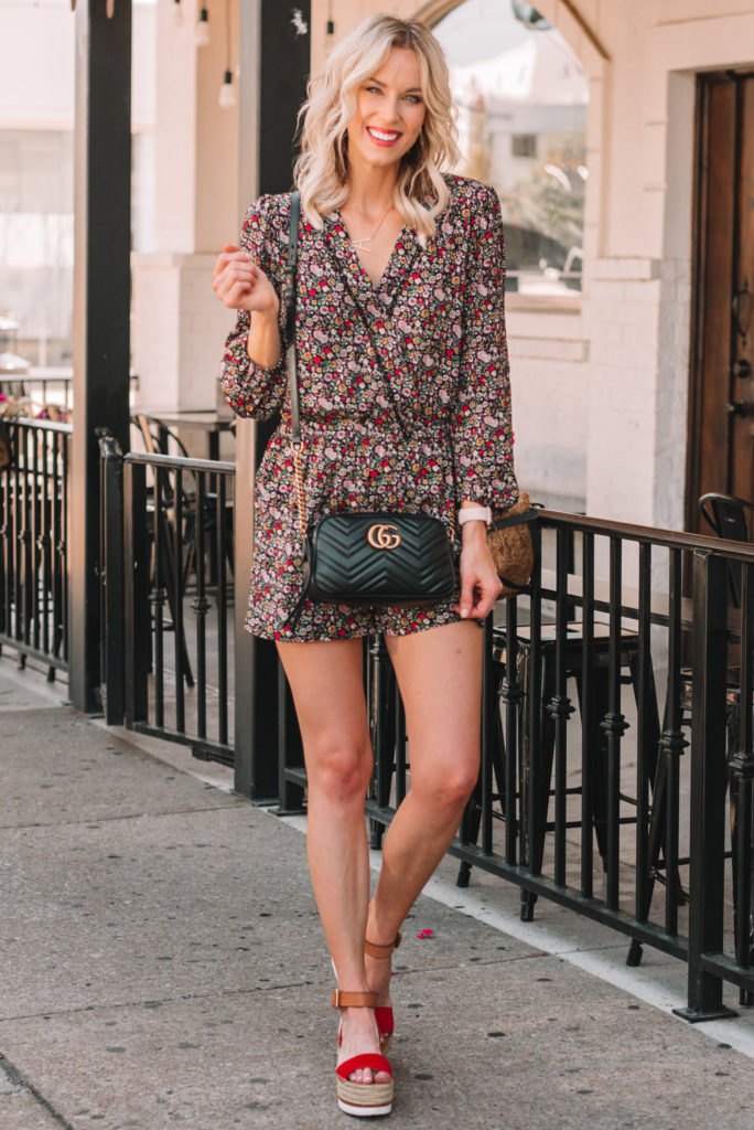$10 floral romper, romper for a tall girl