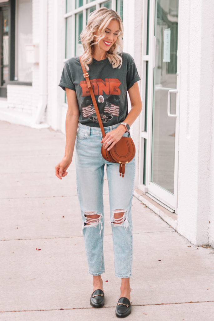 graphic tee, styling a graphic t-shirt