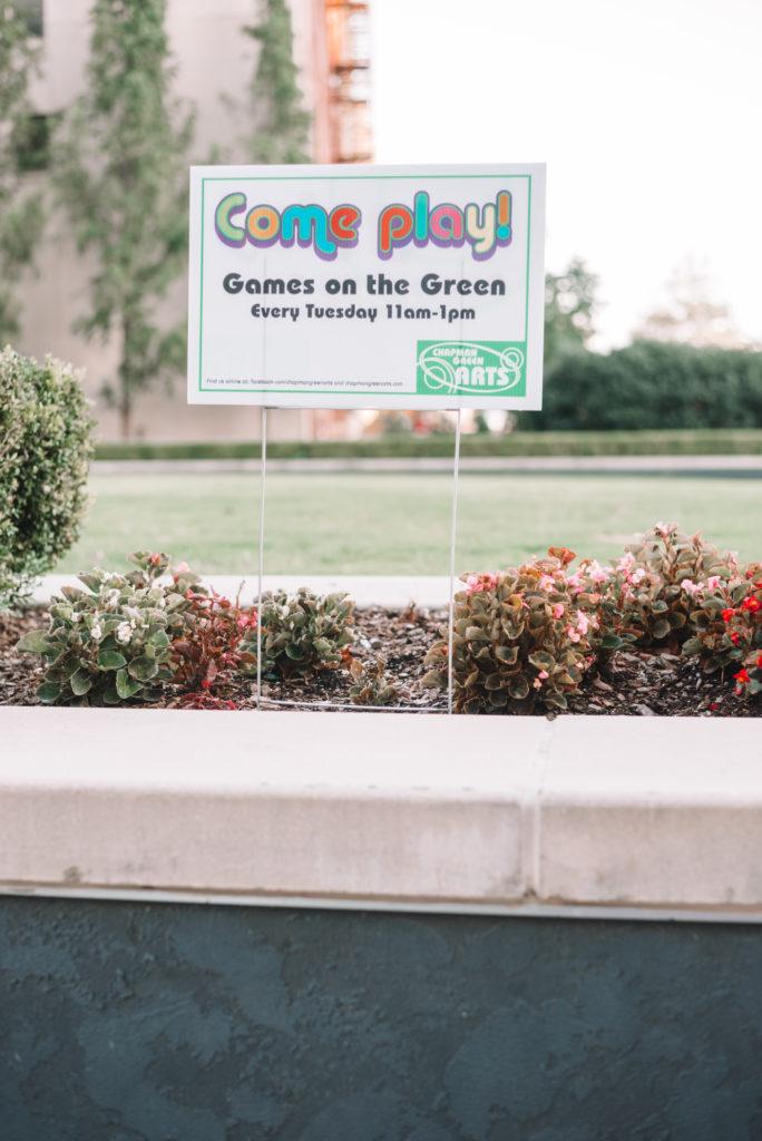 Tulsa, Oklahoma games on the green with Chapman Green Arts