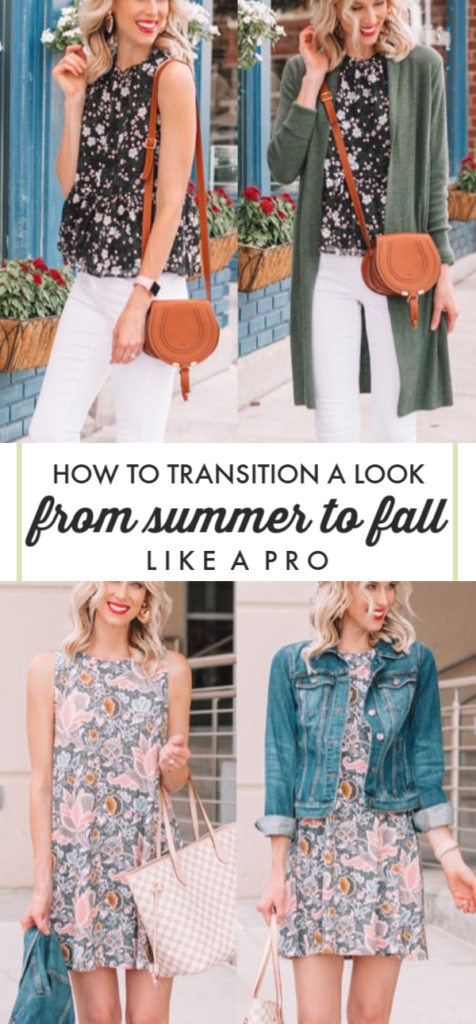 How to Transition an Outfit from Summer to Fall - Multiple Outfit Examples Plus Styling Tips #summertofall #summer #fall #howto #fallfashion
