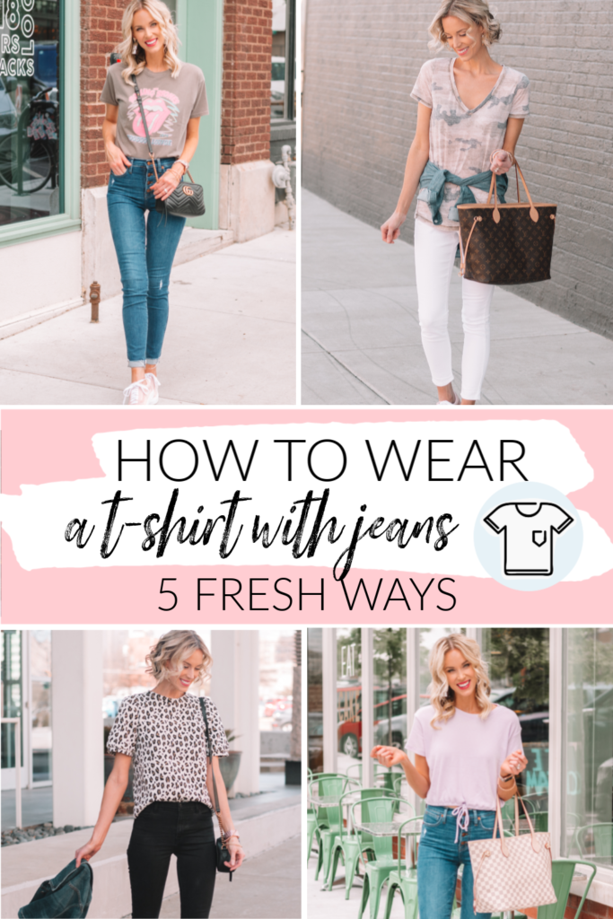 How to Wear a T-Shirt with Jeans - 5 Fun & Easy Ways to Make This Casual Combo Feel Fresh, blog post all about easy ways to wear a t-shirt with jeans