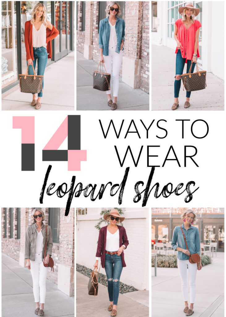 how to wear leopard shoes, how to style leopard shoes, leopard slides, leopard mules, 14 ways to wear leopard shoes, what to wear with leopard shoes, leopard shoe outfits #leopardshoes #leopard #leopardboots #leopardmules #leopardslides #shoes