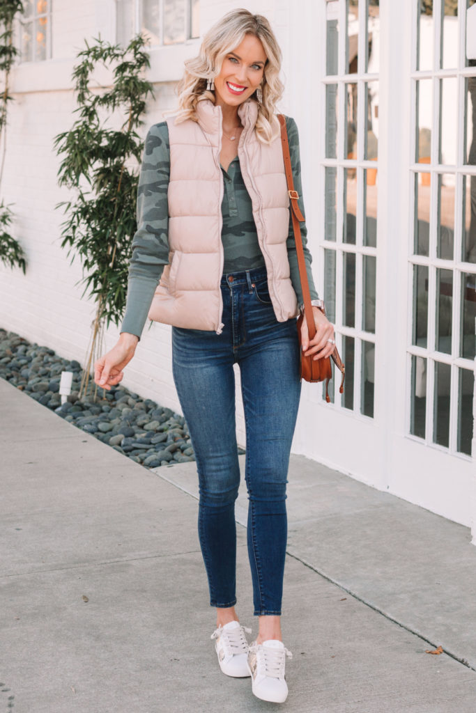 cute and affordable puffer vest