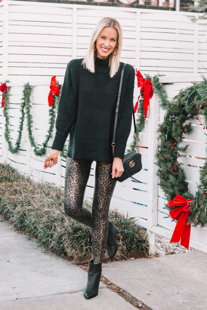 how to dress up leggings, how to style leather leggings